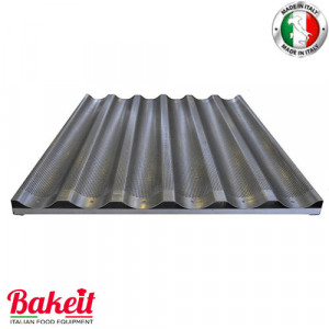 Perforated Aluminium Baguette Tray 10/10 Waved With Lower Support